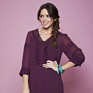 Simply Be Crochet Trim Tunic Dress